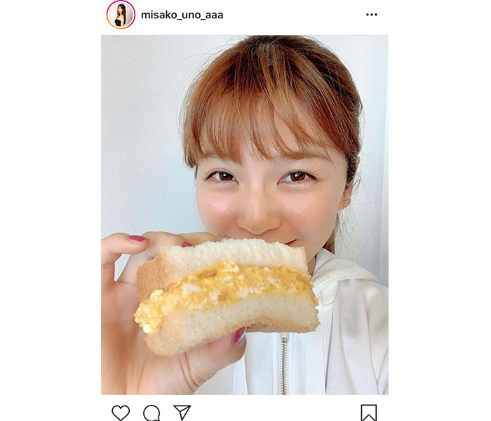 AAA 宇野実彩子、自宅で手作りタマゴサンドに挑戦!「美味しそうだね!」「私も作ってみよう!」
