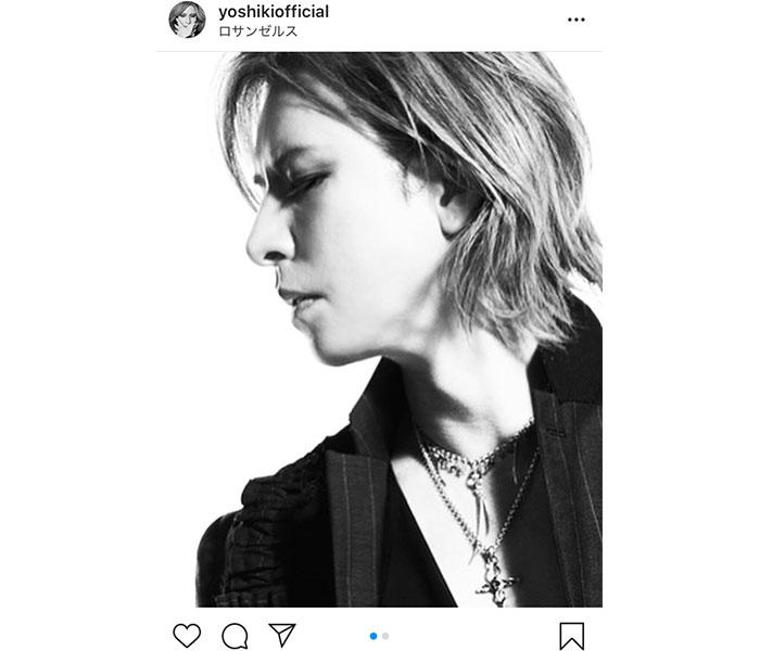 X JAPAN YOSHIKI、モノクロの横顔ショットに反響