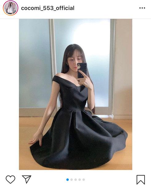 Cocomi、肩出し黒ドレスのおすましポートレート公開