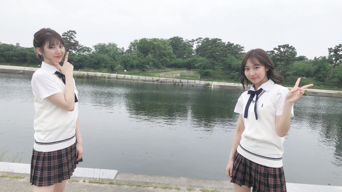SKE48 日高優月&菅原茉椰、久々の外ロケで岡崎のメガネ店を訪れる<SKE48は君と歌いたい>