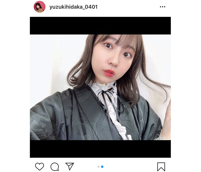 SKE48 日高優月、大人シックな卒業袴を披露「カタチとして残したくて着ました」