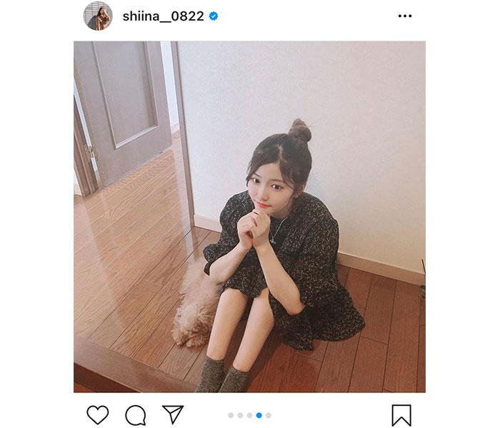 SKE48 平田詩奈、自宅でのミニワンピコーデを紹介「スタイル良すぎ」「可愛いが溢れてます」