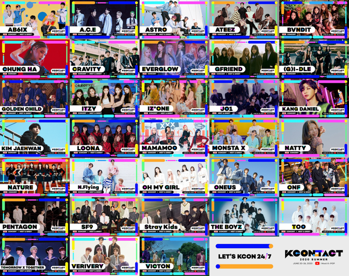 IZ*ONE、JO1、MONSTA X、THE BOYZら出演の『KCON:TACT 2020 SUMMER』ラインナップが発表