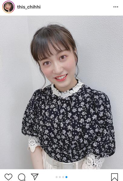 NMB48 川上千尋、微笑みの癒しショットを公開「笑顔!忘れてません?」