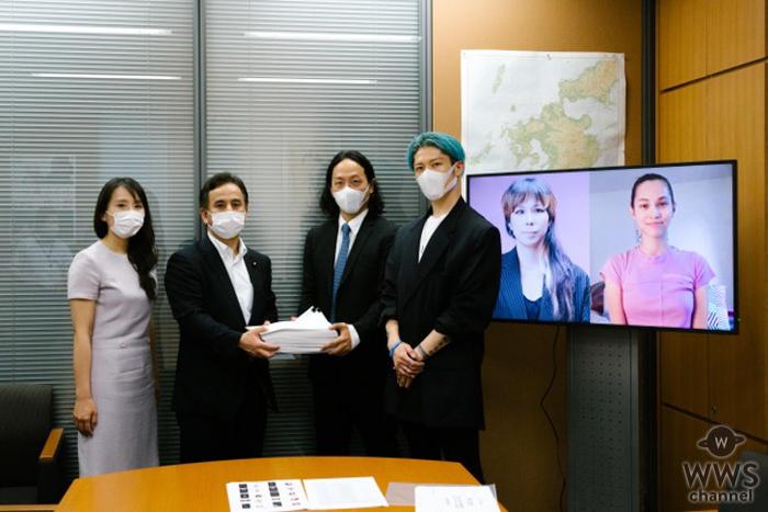MIYAVI、「Sign For Life」プロジェクトに賛同した署名を日本政府へ提出