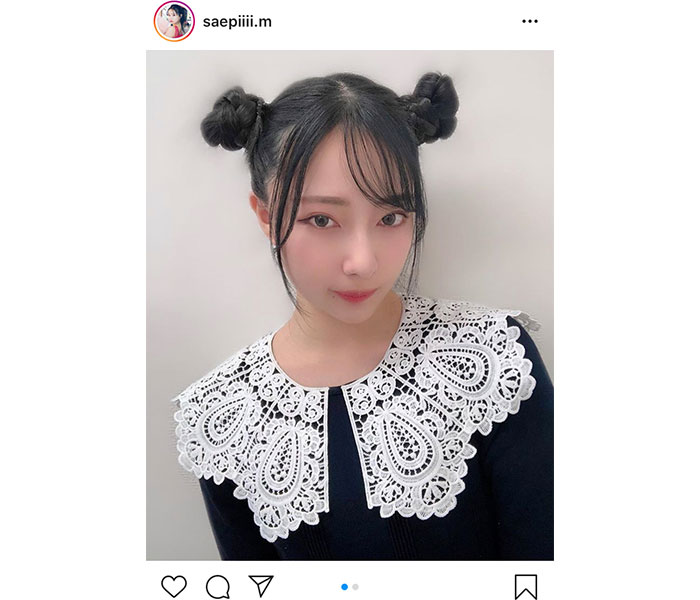 NMB48 村瀬紗英、まるでシャンシャンなチャイナ風お団子ヘアを披露!「ニーハオって感じする」「可愛いくて声でた」