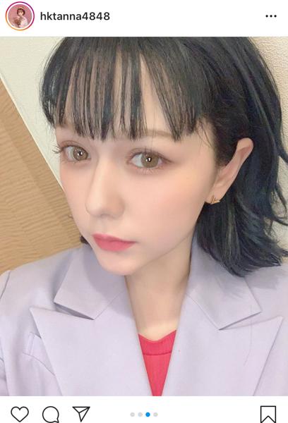HKT48 村重杏奈、IZ*ONE 宮脇咲良の髪色を再現!