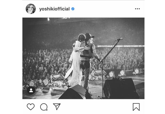 X JAPAN・YOSHIKIが日産スタジアムでのTAIJIとの美しき思い出を振り返る!「TAIJIさん最高のベーシストです。」とファンが歓喜!