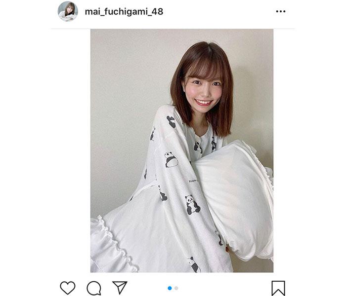 HKT48 渕上舞、パンダのパジャマに気分転換!「清涼感が半端ないですね」