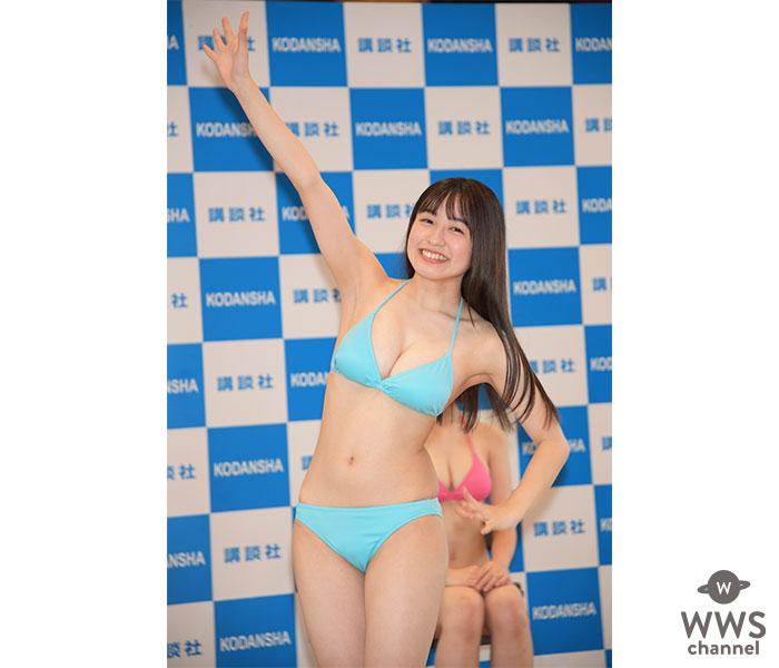 Pimm's 早川渚紗、「ミスマガジン2020」ベスト16発表会で側転披露!
