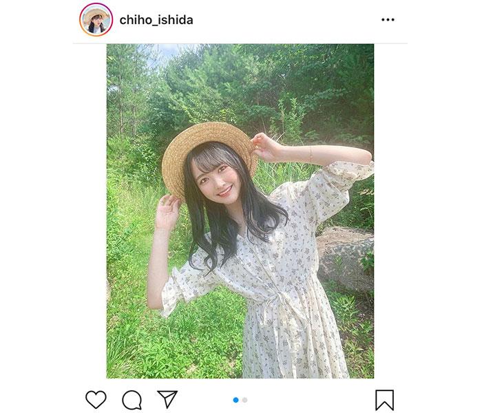 STU48 石田千穂、涼し気な麦わら帽子姿に「凄く可愛い」「ぼくのなつやすみっぽい」