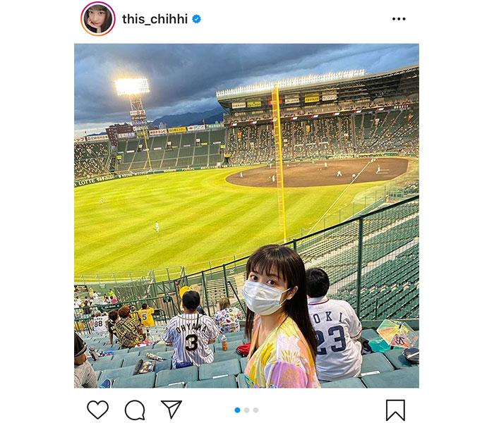 NMB48 川上千尋が甲子園で今年初の野球観戦!「甲子園が似合うアイドルNO.1!」「俺も球場行きたいな」