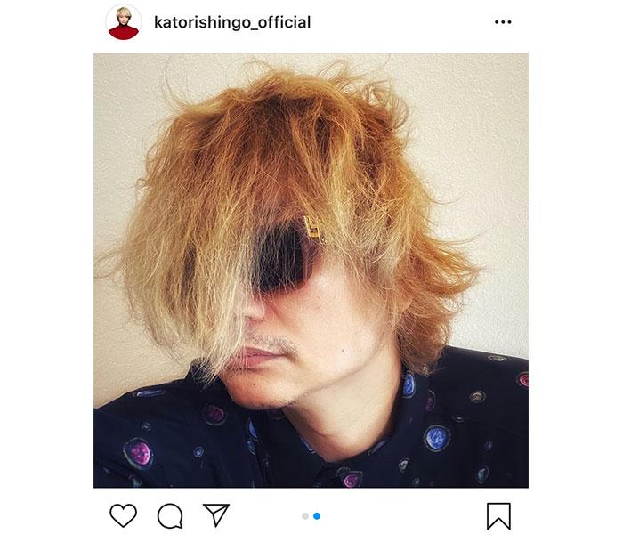 香取慎吾、ボサボサでもイケメンな自撮りショット公開「ハンパない破壊力のイケメン」