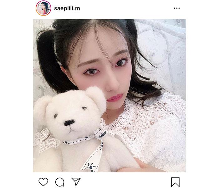 NMB48 村瀬紗英、高めツインテールの幸せショットに「美しくて可愛い」「この世で1番の反則です!」とファン悶絶