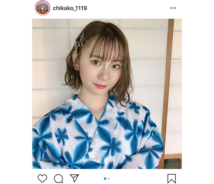 SKE48 松本慈子、凛とした視線で見つめる浴衣姿に絶賛!「想像を絶する美人」「爽やかでいい感じ!」