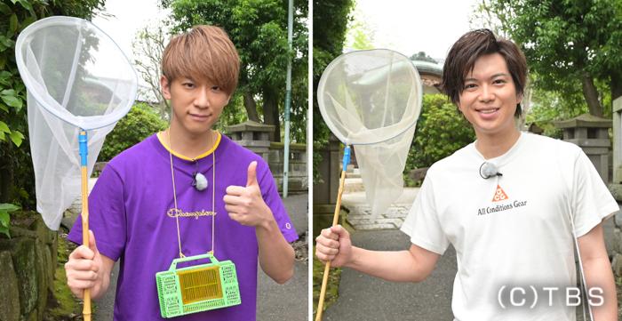 NEWS 小山慶一郎&加藤シゲアキ、東京で野生食材を探してサバイバル