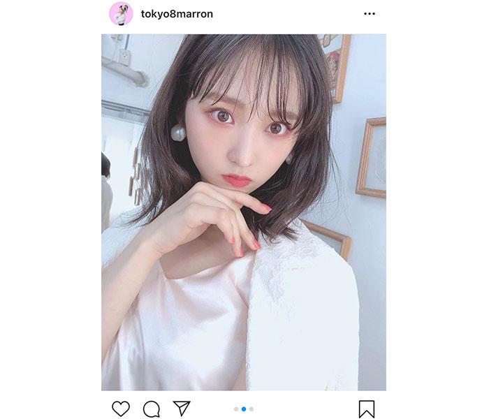 "AKB48 小栗有以、シースルー前髪の""大人ゆいゆい""ショットに反響!「美しすぎる」「可愛いさの暴力」"