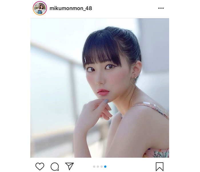 HKT48 田中美久、キャミソール&ポニーテールで夏に衣替え!「元気を届けれるように私も頑張りたい」