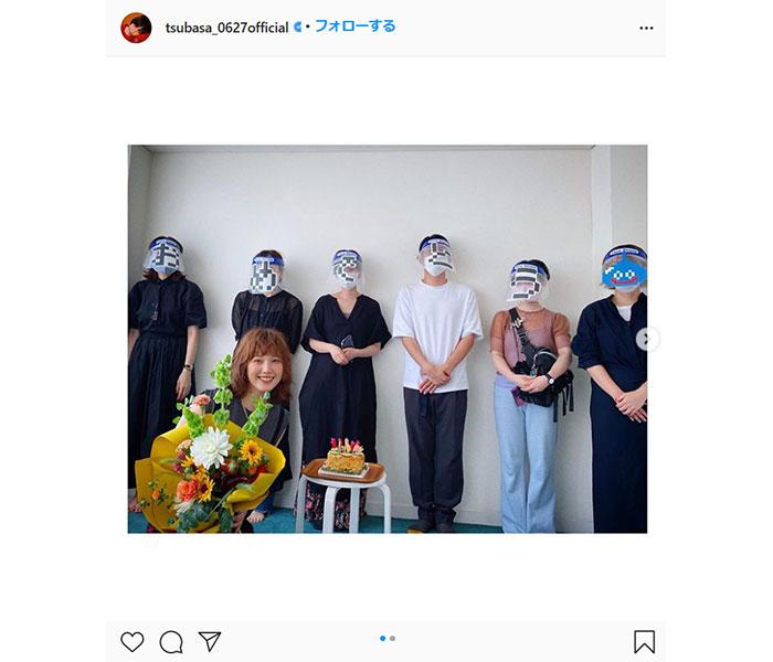 本田翼、コロナ対策を活かしたお祝いを紹介 「フェイスシールドにメッセージ付」