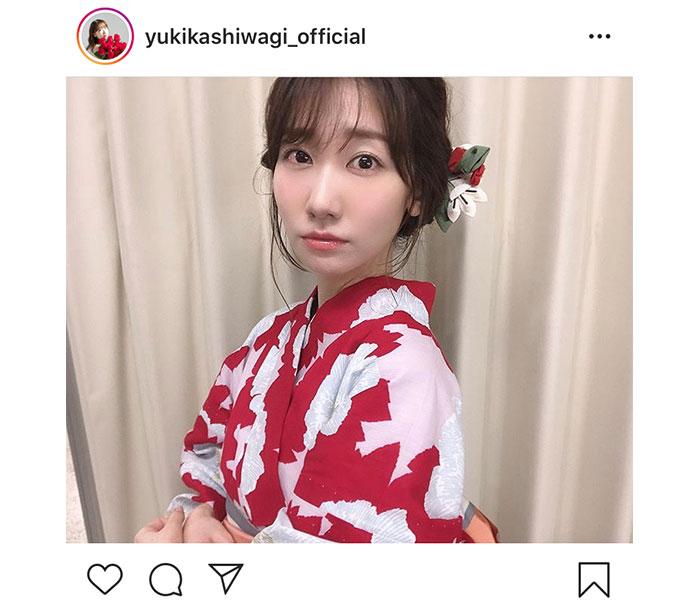 AKB48 柏木由紀「今年初浴衣〜」!NHK「うたコン」生出演で『恋チュン』披露