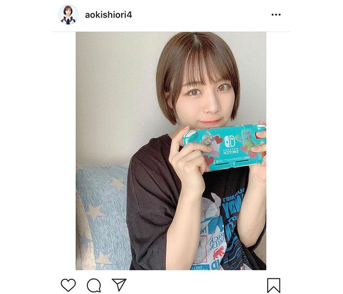 SKE48 青木詩織がリアルな部屋着ショットを公開!オフの日の過ごし方に共感の声