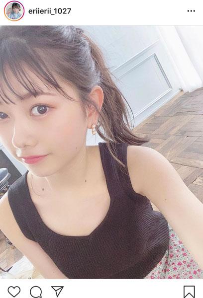 AKB48 千葉恵里、振り向きざまのポニーテール姿に「可愛いのに大人っぽい」「尊い」と反響