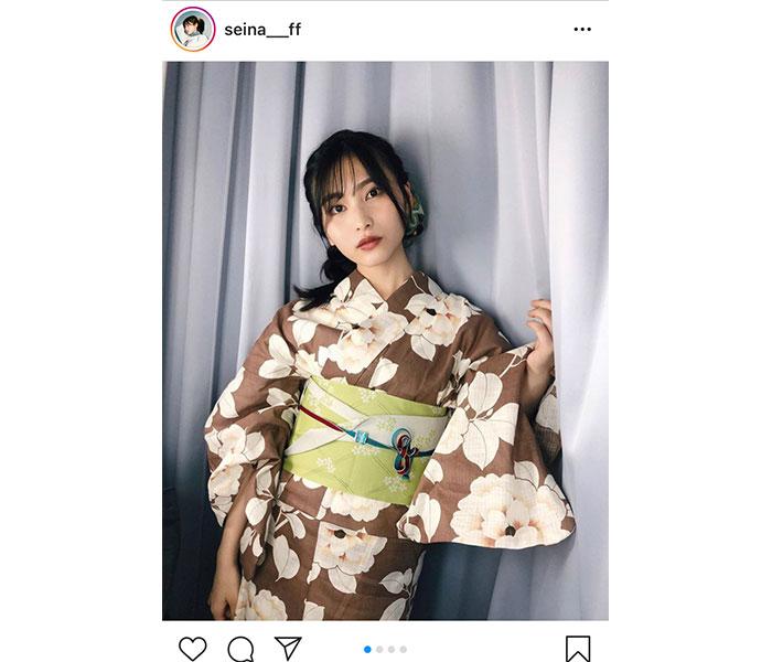AKB48 福岡聖菜がハタチを迎えて初の浴衣ショットを披露!「大人っぽくてかわいい!」「本当に素敵過ぎる」