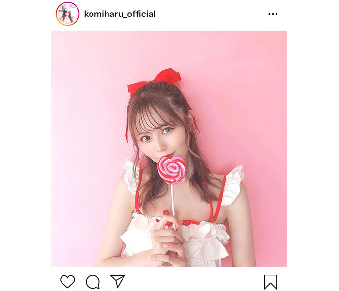 AKB48 込山榛香、ガーリーな赤白水着ショットにファン悶絶!「かわいい!天使!!」「可愛すぎてキュン死した」