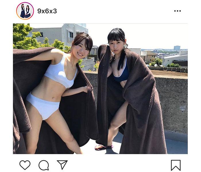 福岡発のアイドル・963(ぴーぴる&れーゆる)のヘルシーな「週プレ」オフショットが公開