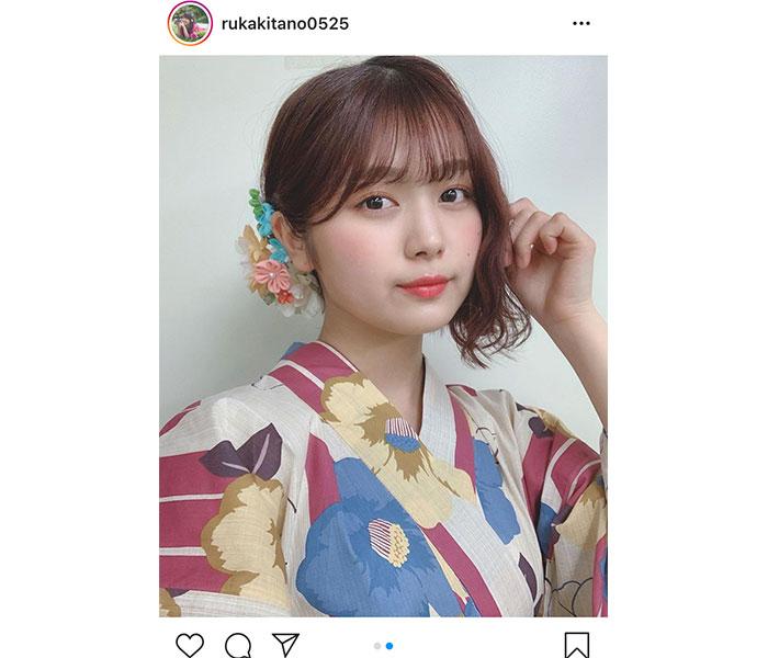 SKE48 北野瑠華、凛とした雰囲気の大人浴衣ショットに絶賛の声「和風美人」「艶っぽい」