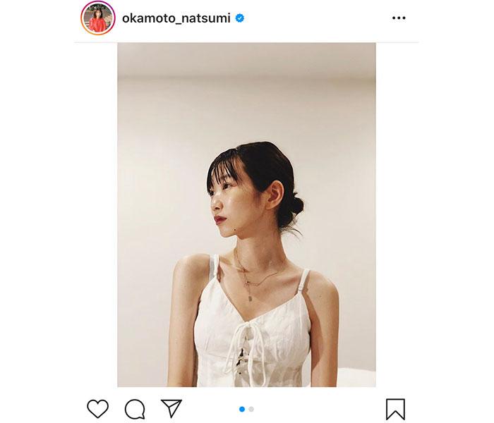 岡本夏美、鎖骨あらわの艶やかポートレートに反響!「美しすぎて眩しいです」