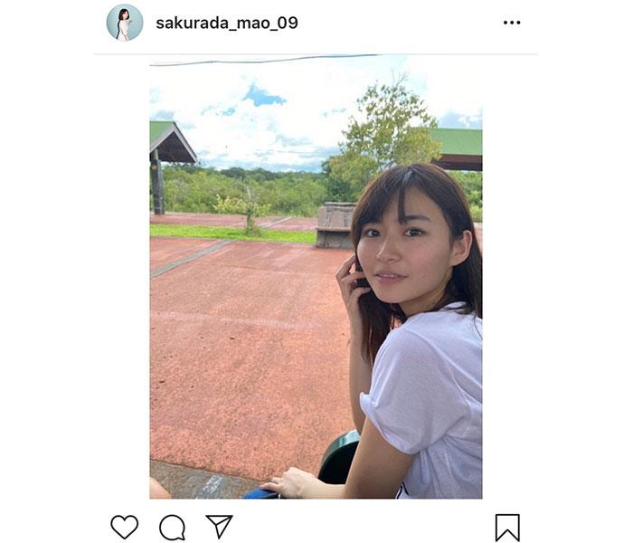 桜田茉央、夏っぽい写真と共にファンへ質問「みんなの趣味を知りたいなぁ」