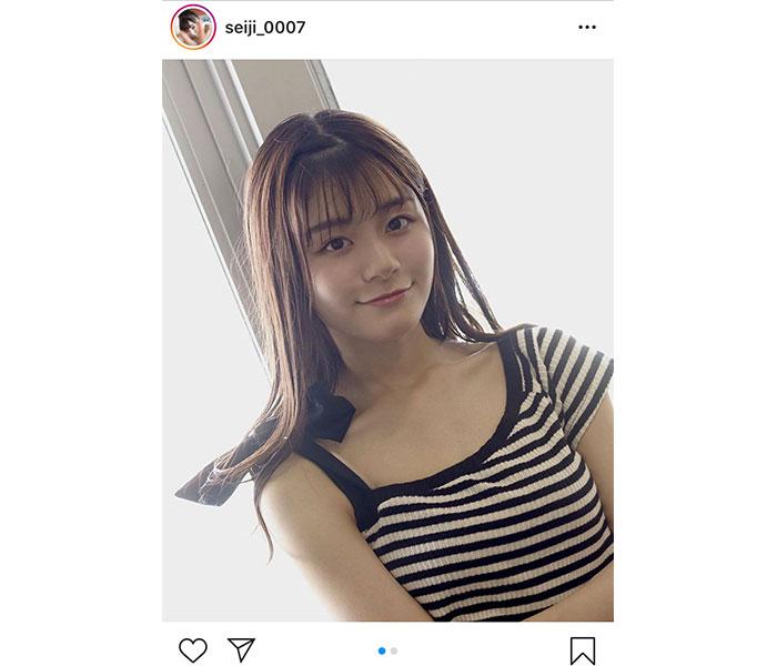 NGT48 清司麗菜、涼し気なワンショルダーのトップスを紹介