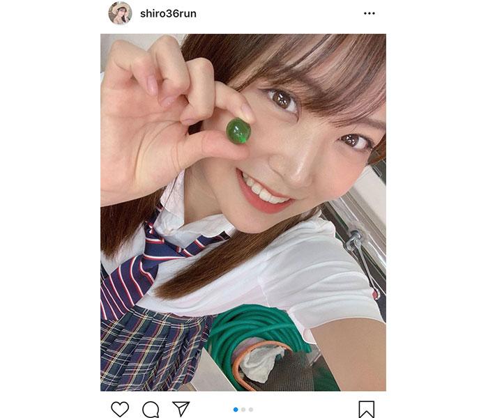 NMB48 白間美瑠、可愛すぎる制服オフショットに「ヤンチャなJK感」「めちゃ似合いますね」と反響!