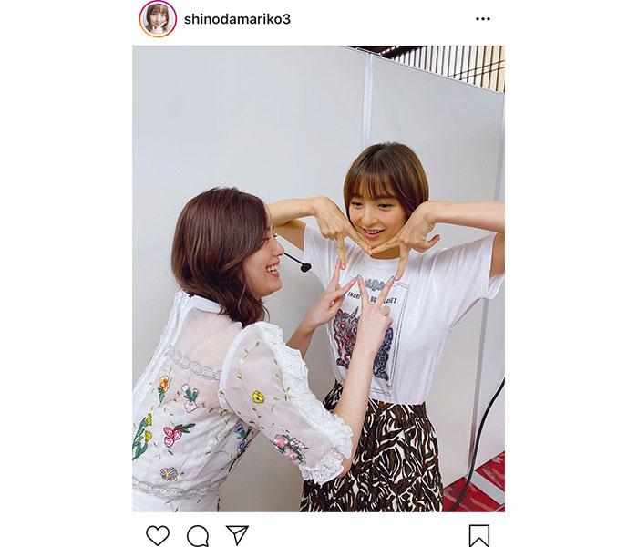 篠田麻里子&松井珠理奈の仲睦まじい姉妹2ショットに歓喜の声「微笑ましい」「大好きコンビ」