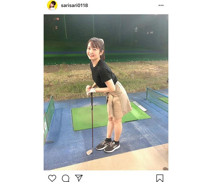 SKE48 惣田紗莉渚、初めてのゴルフでスポーティなポニーテール姿を披露「似合ってるね〜」「一緒に練習したい」