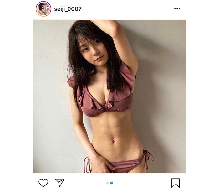 NGT48 清司麗菜、鍛え抜かれた腹筋と美くびれに釘付け!「ずっと筋トレ継続中」