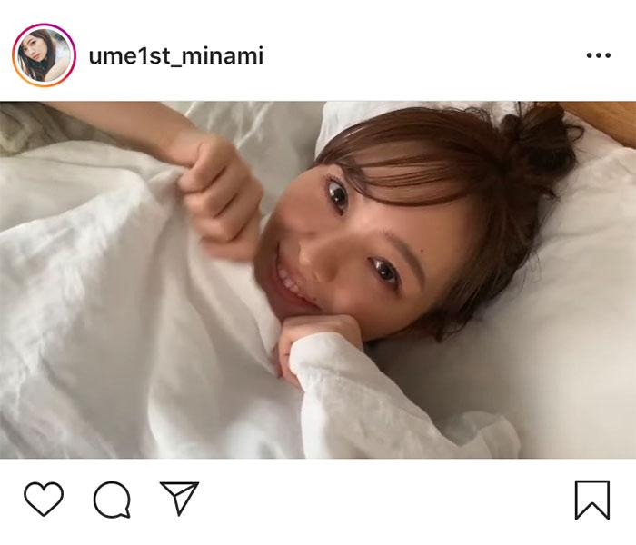 乃木坂46 梅澤美波、布団からひょっこり顔をのぞかせた癒されムービー公開!「反則級の可愛さです」