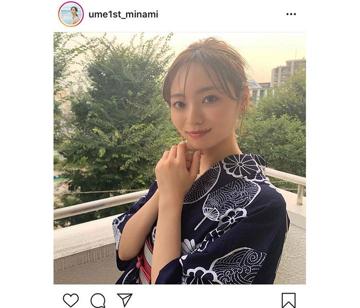 乃木坂46 梅澤美波、お団子ヘアで涼む浴衣ショット披露!「惚れた」「最高すぎる!」