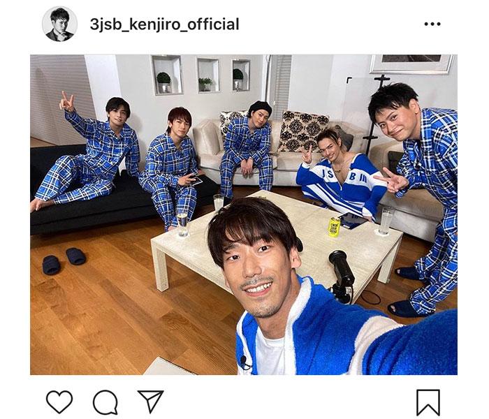 三代目JSB 山下健二郎、メンバーのパジャマ集合カットを公開!