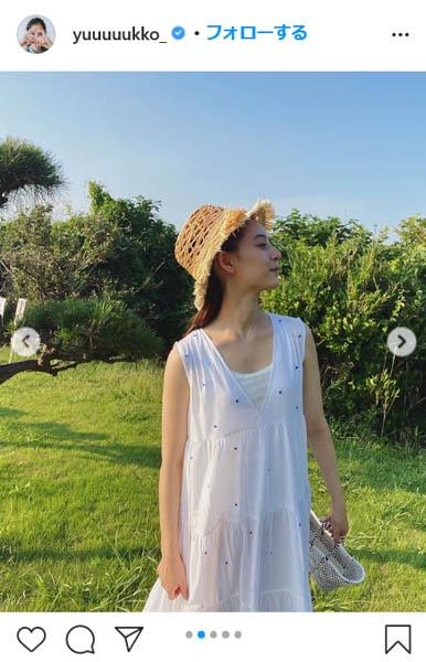 新木優子、夏らしい涼し気コーディネートを披露「もう秋が近づいてきてるので夏服ラストスパート‼︎」