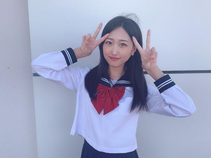 NGT48 古澤愛、姉御肌な雰囲気の王道セーラ服姿が話題!「ケンカ強そう」「姉御について行きます!」