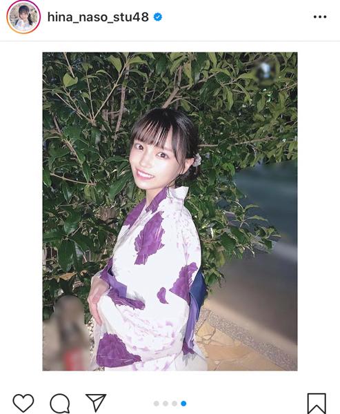 STU48 岩田陽菜、今年最後の浴衣姿をお届け「どんどん素敵になってる」