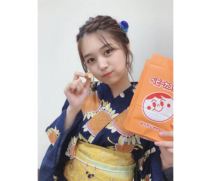 SKE48 北野瑠華、デコだしヘアスタイルに凛とした浴衣姿で夏を満喫!「尊い」「一緒にお祭り行きたい」