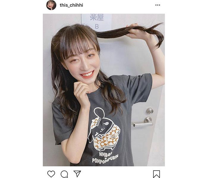 NMB48 川上千尋のポムポムプリンコラボTシャツ姿が可愛い!!「可愛さのダブルパンチ」