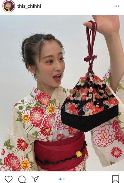 NMB48 川上千尋、浴衣に似合うデコ出しヘアアレンジに反響!