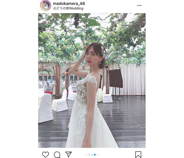 HKT48 森保まどか、父も涙の純白ウエディングドレス姿に多くの反響「ほんにきれいかー」「誓います」