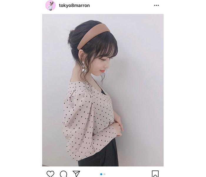 AKB48 小栗有以、色白の美脚際立つ秋コーデ紹介「足細くてスタイル良くて可愛いいね」