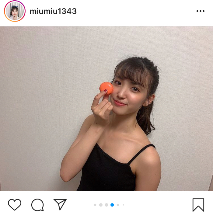 AKB48 下尾みう、肌見せキュートなヘルシー自撮りショット公開「肌きれい」「この夏一番の健康美人」
