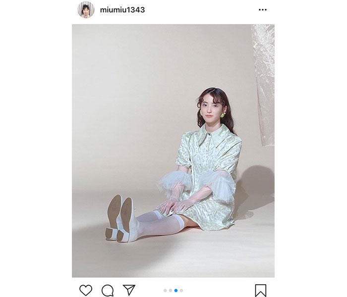 AKB48 下尾みう、「bis」掲載のオフショットを公開「フランス人形みたい」